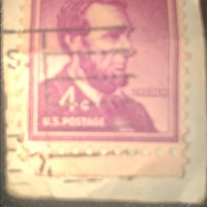 Other - Rare Lincoln 4 Cent US Stamp